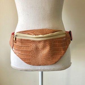 Croc Embossed Belt Bag Size O/S Blush/Pink